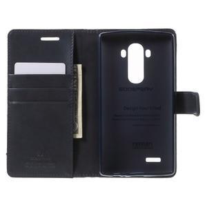 Luxury PU kožené pouzdro na mobil LG G4 - tmavěmodré - 4