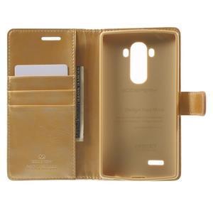 Luxury PU kožené pouzdro na mobil LG G4 - zlaté - 4