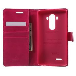 Luxury PU kožené pouzdro na mobil LG G4 - rose - 4