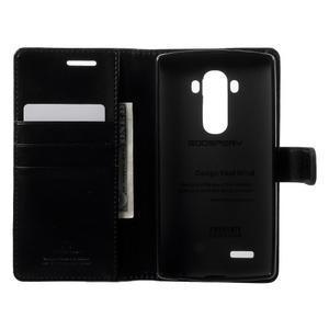 Luxury PU kožené pouzdro na mobil LG G4 - černé - 4