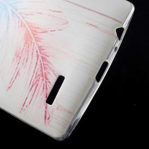 Softy gelový obal na mobil LG G4 - peříčko - 4
