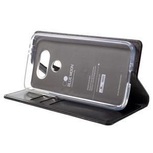 Luxury PU kožené pouzdro na mobil LG G5 - černé - 4