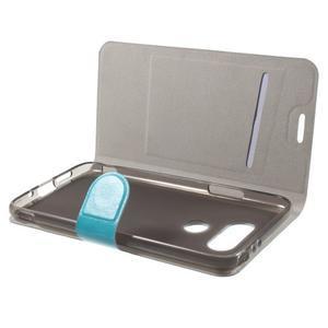 Horse PU kožené peněženkové pouzdro na LG G5 - modré - 4