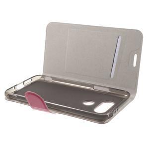 Horse PU kožené peněženkové pouzdro na LG G5 - rose - 4