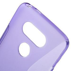 S-line gelový obal na mobil LG G5 - fialový - 4