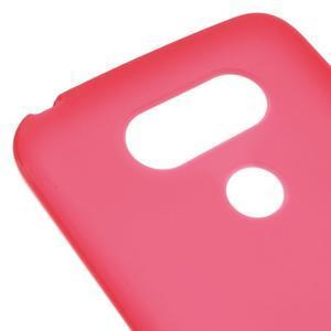 Matný gelový kryt na mobil LG G5 - červený - 4