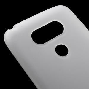 Matný gelový kryt na mobil LG G5 - bílý - 4