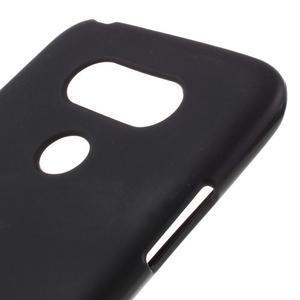 Matný gelový kryt na mobil LG G5 - černý - 4
