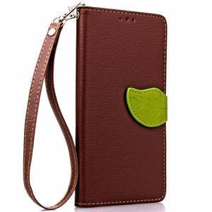 Leaf PU kožené pouzdro na LG G5 - hnědé - 4