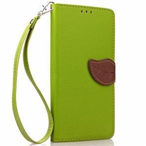 Leaf PU kožené pouzdro na LG G5 - zelené - 4