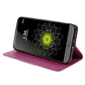 Klopové peneženko pouzdro na LG G5 - rose - 4
