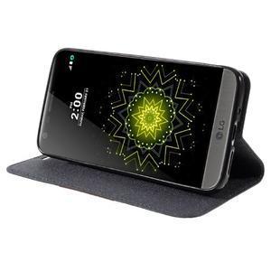 Klopové peneženkové pouzdro na LG G5 - šedé - 4