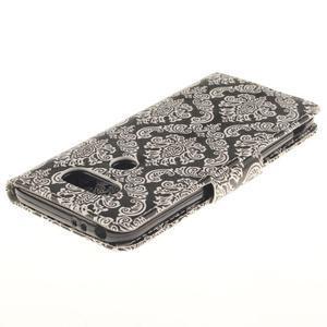Obrázkové koženkové pouzdro na LG G5 - retro tapeta - 4