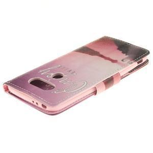 Obrázkové koženkové pouzdro na LG G5 - enjoy - 4