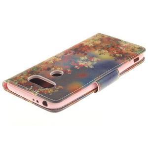 Obrázkové koženkové pouzdro na LG G5 - malované listí - 4