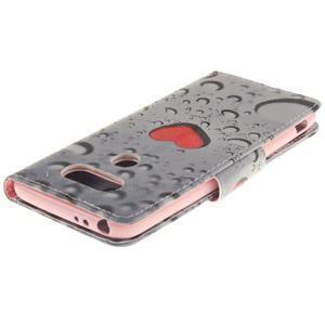 Obrázkové koženkové pouzdro na LG G5 - srdce - 4