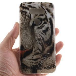 Softy gelový obal na mobil LG G5 - bílý tygr - 4