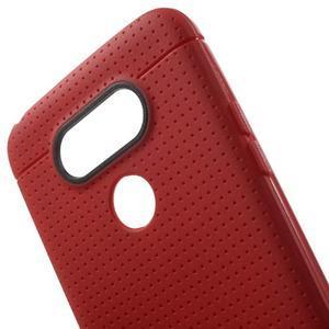 Rubby gelový kryt na LG G5 - červený - 4