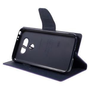 Goos stylové PU kožené pouzdro na LG G5 - fialové - 4