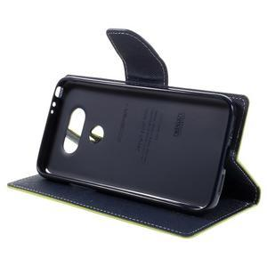Goos stylové PU kožené pouzdro na LG G5 - zelené - 4