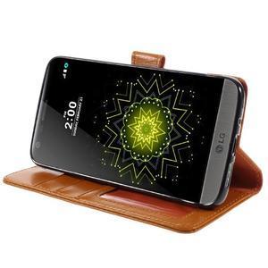 Wax peněženkové pouzdro na LG G5 - oranžové - 4