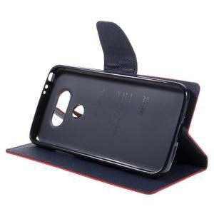 Goos stylové PU kožené pouzdro na LG G5 - červené - 4
