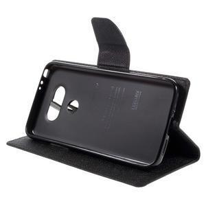 Goos stylové PU kožené pouzdro na LG G5 - černé - 4