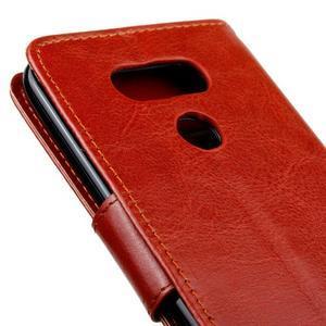 Lees peněženkové pouzdro na LG G5 - hnědé - 4