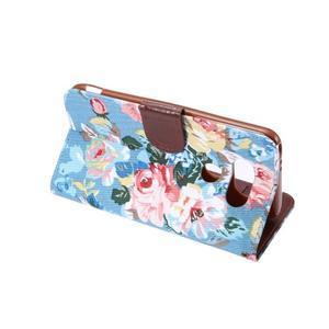 Květinové pouzdro na mobil LG G5 - modrý vzor - 4