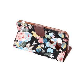 Květinové pouzdro na mobil LG G5 - černý vzor - 4