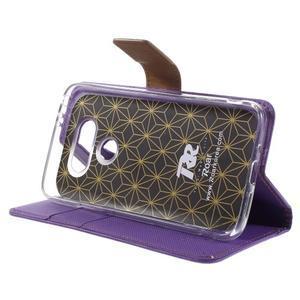 Diary PU kožené pouzdro na mobil LG G5 - fialové - 4