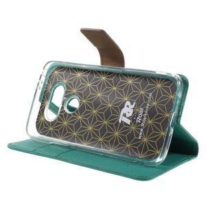 Diary PU kožené pouzdro na mobil LG G5 - zelené - 4
