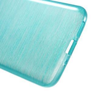 Hladký gelový obal s broušeným vzorem na LG G5 - tyrkysový - 4
