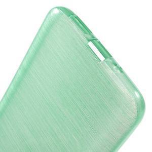 Hladký gelový obal s broušeným vzorem na LG G5 - cyan - 4