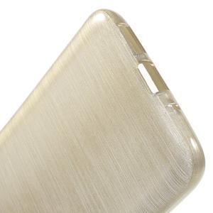 Hladký gelový obal s broušeným vzorem na LG G5 - champagne - 4