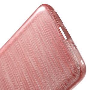 Hladký gelový obal s broušeným vzorem na LG G5 - růžový - 4