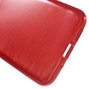 Hladký gelový obal s broušeným vzorem na LG G5 - červený - 4
