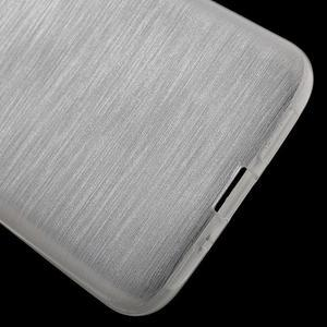 Hladký gelový obal s broušeným vzorem na LG G5 - bílý - 4