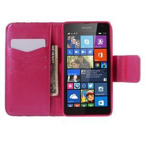 Peněženkové pouzdro na Microsoft Lumia 535 - srdce - 4