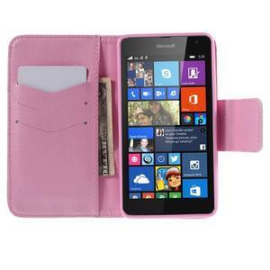 Peněženkové pouzdro na Microsoft Lumia 535 - kvetoucí větvička - 4