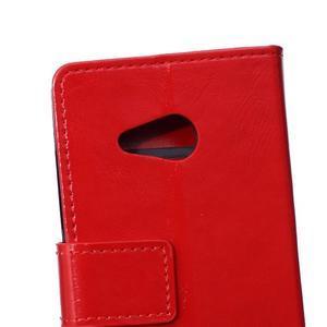 GX koženkové pouzdro na mobil Microsoft Lumia 550 - červené - 4