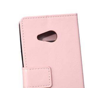 GX koženkové pouzdro na mobil Microsoft Lumia 550 - růžové - 4
