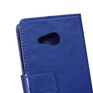 GX koženkové pouzdro na mobil Microsoft Lumia 550 - modré - 4
