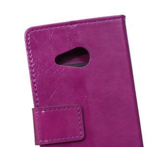 GX koženkové pouzdro na mobil Microsoft Lumia 550 - fialové - 4