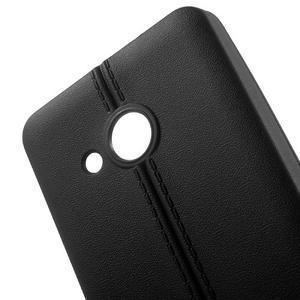 Lines gelový kryt se švy na Microsoft Lumia 550 - černý - 4