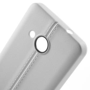 Lines gelový kryt se švy na Microsoft Lumia 550 - bílý - 4
