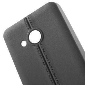 Lines gelový kryt se švy na Microsoft Lumia 550 - šedý - 4