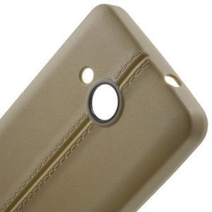Lines gelový kryt se švy na Microsoft Lumia 550 - champagne - 4