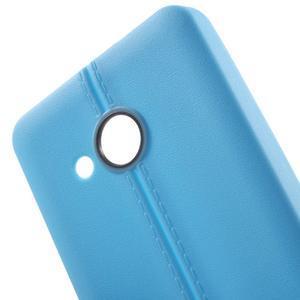 Lines gelový kryt se švy na Microsoft Lumia 550 - modrý - 4