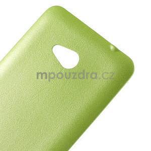 Gelový kryt s imitací kůže pro Microsoft Lumia 640 -  zelený - 4